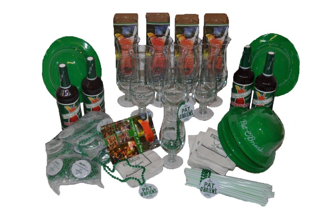 Pat O'Brien's Party Pack for 12 People (with  Hurricane Glasses)